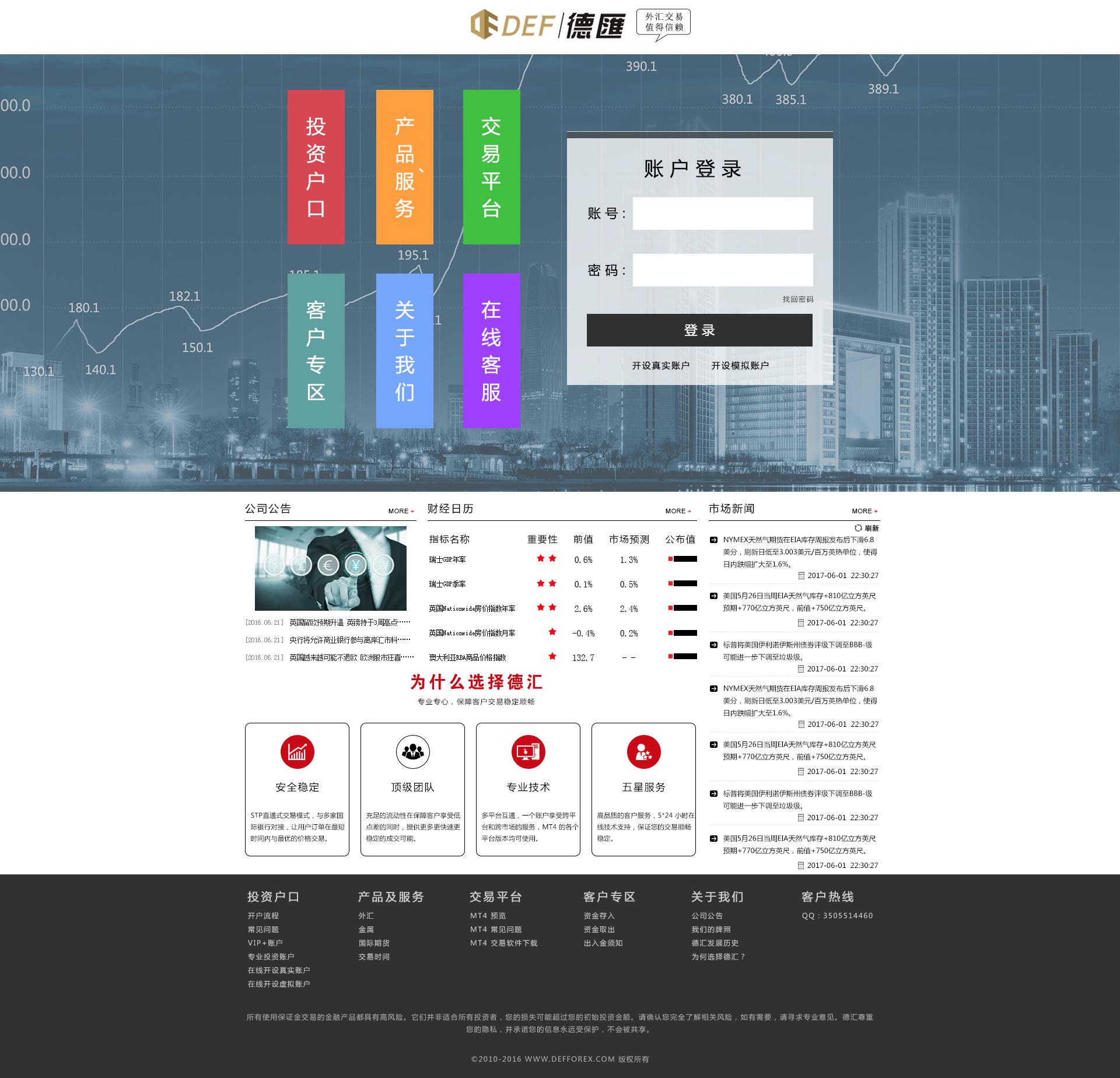 网站.jpg 德汇,全球在线交易系统UI设计(无锡)  第1张